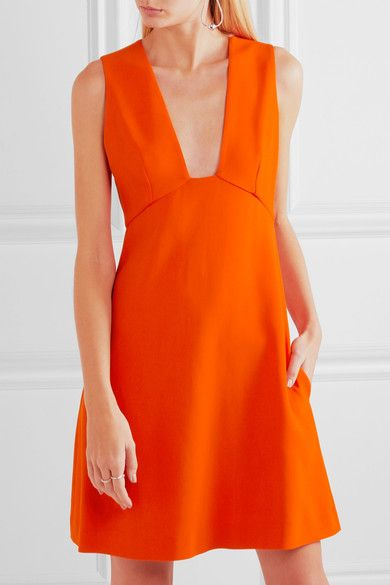 Stella McCartney - Stretch-cady Mini Dress - Orange - IT44