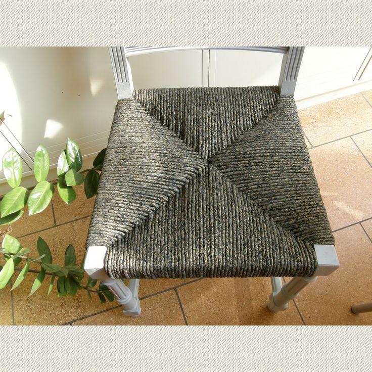 Les 25 meilleures id es de la cat gorie chaise paille sur pinterest rempail - Recouvrir une chaise ...
