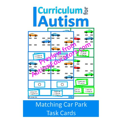 50 best autism resources images on pinterest autism autism matching car park task cards thinking skills fandeluxe Images