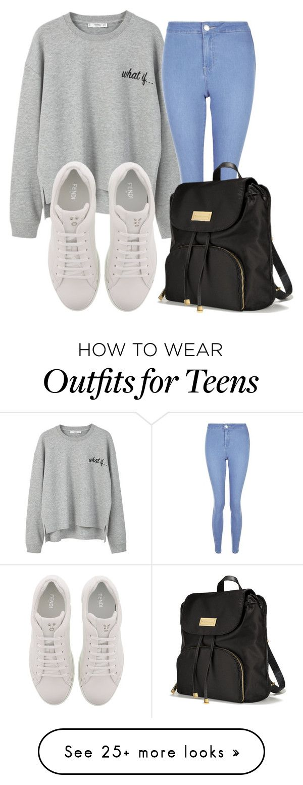 """""""What if...✅✨"""" by mili-kkk on Polyvore featuring MANGO, New Look, Fendi and Victoria's Secret"""