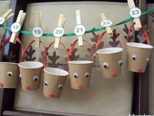 calendario avvento per natale fai da te con bicchierini del caffè  #calendario…