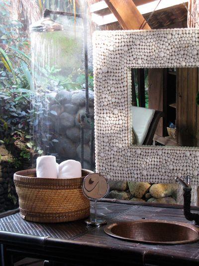 just one of 1,000 reasons to love Bali: the interiors! bamboo garden house at Panchoran Retreat | Yoga & Spa, Bali