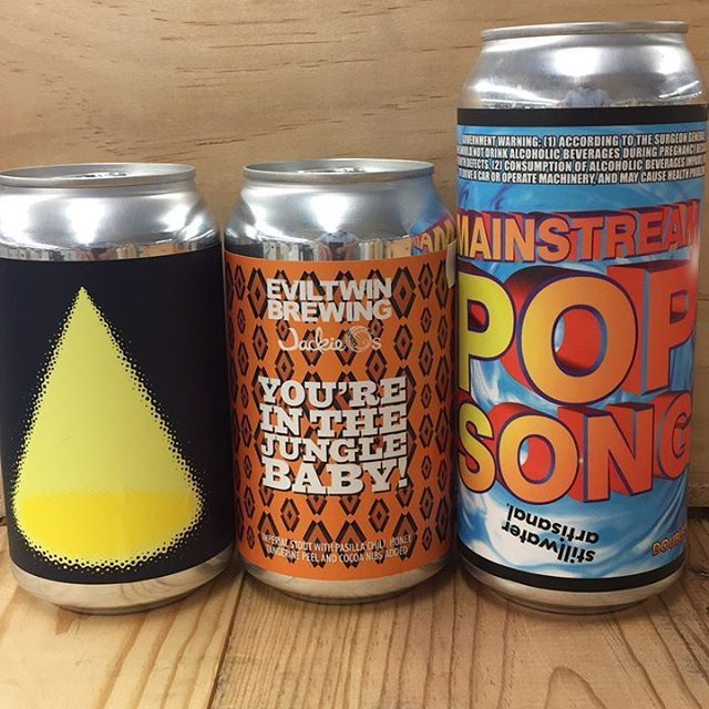New beers for the weekend!! @omnipollo Lustro Imperial IPA @eviltwinbrewing and @jackieosbrewery You're in the Jungle Baby! Imperial Stout with Pasilla chili, honey, tangerine peel and cocoa nibs added and @stillwater_artisanal Mainstream Pop Song Double IPA!! Don't miss out @burgeonbeer pre-sale for Treevana IPA (link in bio) and be sure to come in this Sunday for our beer tasting with @foundersbrewing (and enjoy 10% off beer purchases that day with your tasting!!!) #sandiego…