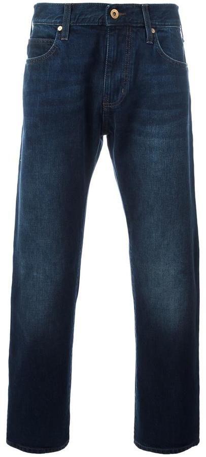 Armani Jeans five pocket straight-leg jeans