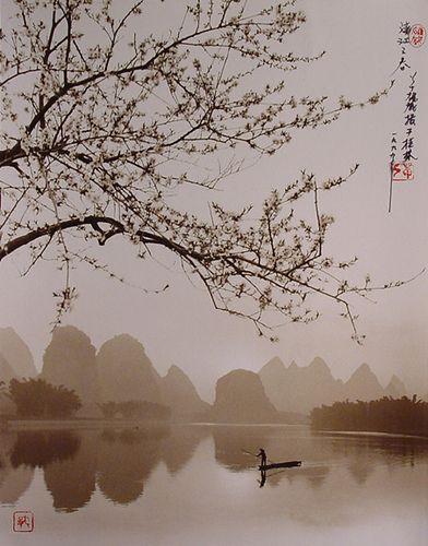 Spring on the River Li, Guilin 1990 - Don Hong Oai
