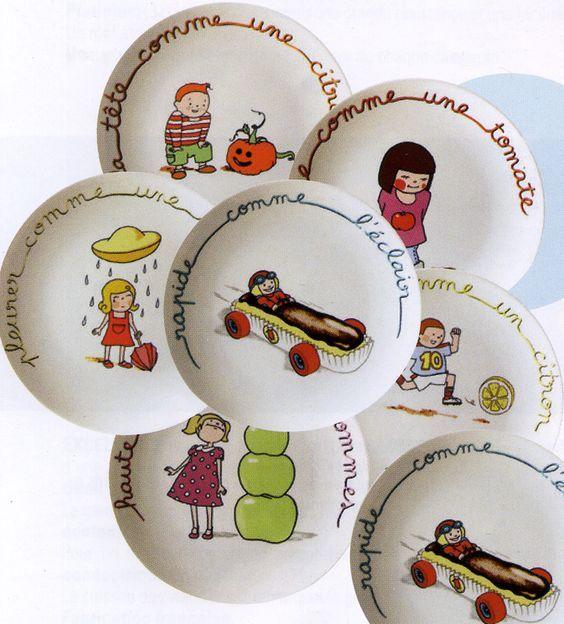 Expressions françaises sur porcelaine