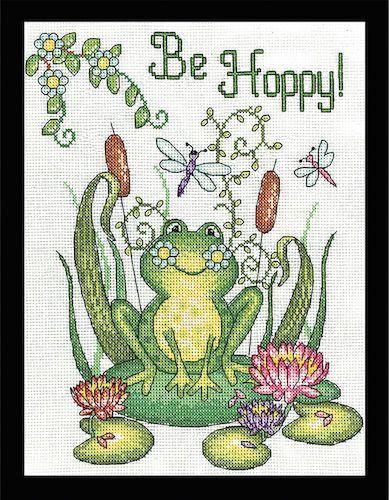 Cross Stitch Kit BE HOPPY Design Works Frog от TheAngelsNook