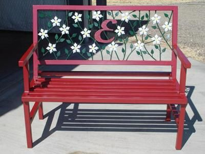 Garden Bench: Garden bench welding project: I needed to replace my weathered store-bought bench and decided that I would build my own out of metal.  I ordered the flowers