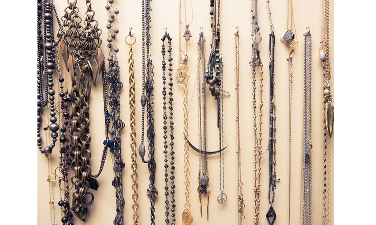 """See where Khloe Kardashian, Cindy Crawford and Jessica Alba store their wardrobes, courtesy of """"The Coveteur."""" Pictured here: Cindy Crawford's jewelry."""