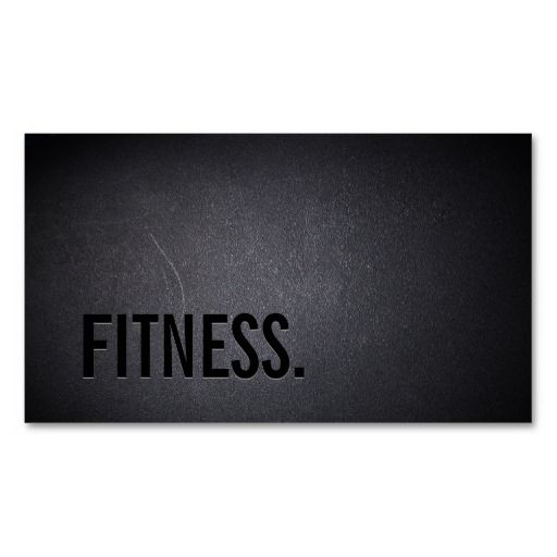 Professional Black Out Fitness Business Card | personal trainer, fitness coach