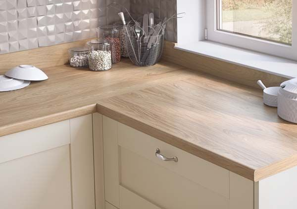 Egger Contemporary Natural Hickory Wood Effect Kitchen Bathroom Laminate  Worktop Offcut Work Surface Breakfast Bar   X X Breakfast Bar