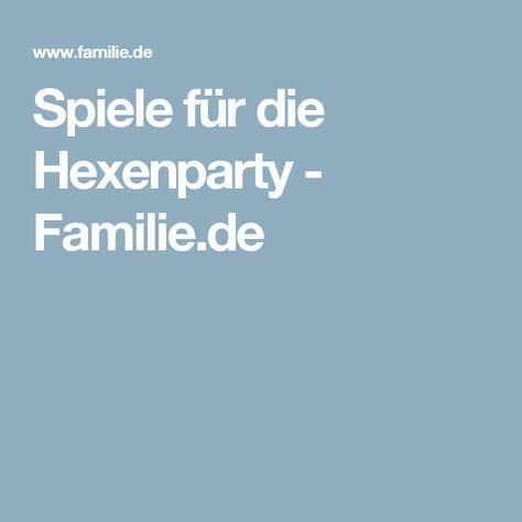 Spiele für die Hexenparty - Familie.de