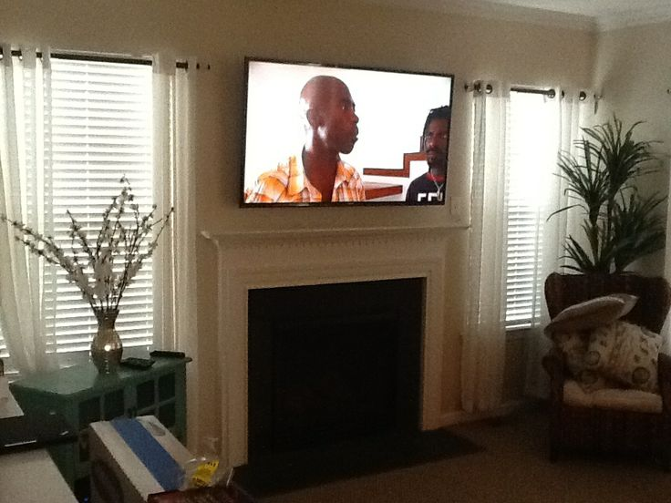 Great TV Installation Over A Drywall Fireplace With Wires Concealed In The Wall  By Mike In Dover