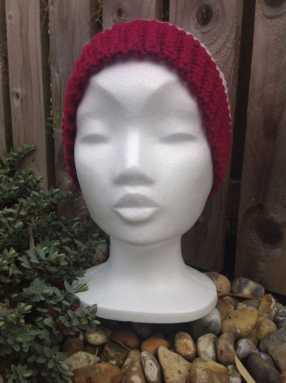 Unisex adult slouch hat wooly hat slouch hat by ChickFromLeeds