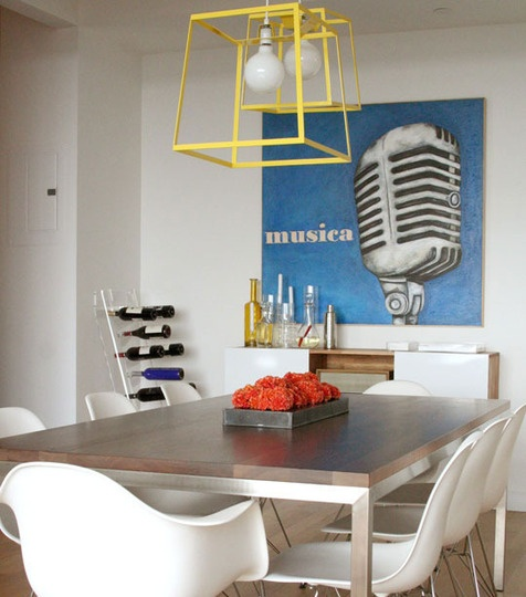 nice and mod: Sabrinasoto, House Tours, Dining Room, Lights Fixtures, Chairs, Sabrina Soto, Colors, Diningroom, Dining Tables