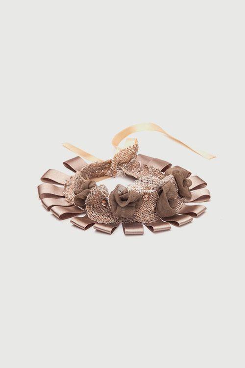 Romani Design ribbon necklace (beige) | Romani Design