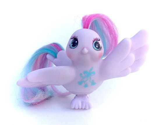 G1 My Little Pony TINSEL TAILS Bird Fairy Tails! www.CuteVintageToys.com 💖 Hundreds Of Kawaii Vintage Toys From The 80s & 90s! Follow Me & Use The Coupon Code PINTEREST For 10% Off Your ENTIRE Order! 💌 Dozens of G1 My Little Ponies, Polly Pockets, Popples, Strawberry Shortcake, Care Bears, Rainbow Brite, Moondreamers, Keypers, Disney, Fisher Price, MOTU, She-Ra Cabbage Patch Kids, Dolls, Blues Clus, Barney, Teletubbies, ET, Barbie, Sanrio, Muppets, Sesame Street, & Fairy Kei Cuteness!💖