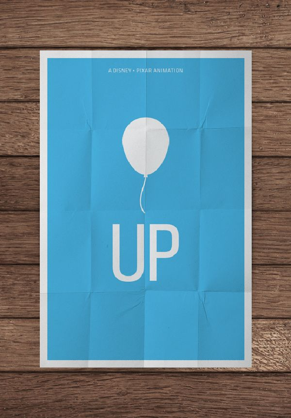 Minimalist Movie Posters - Up #pixar #disney