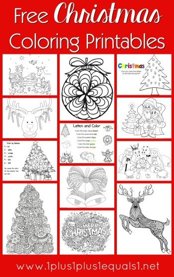free christmas coloring pages for kids adults