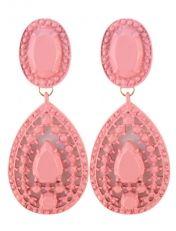 Ibiza oorbellen roze http://www.wenn-sieraden.nl/ibiza-oorbellen-roze