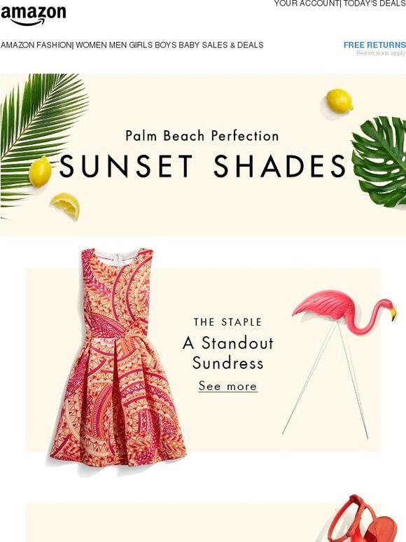 The perfect summer palette: Sunset shades - Amazon Fashion