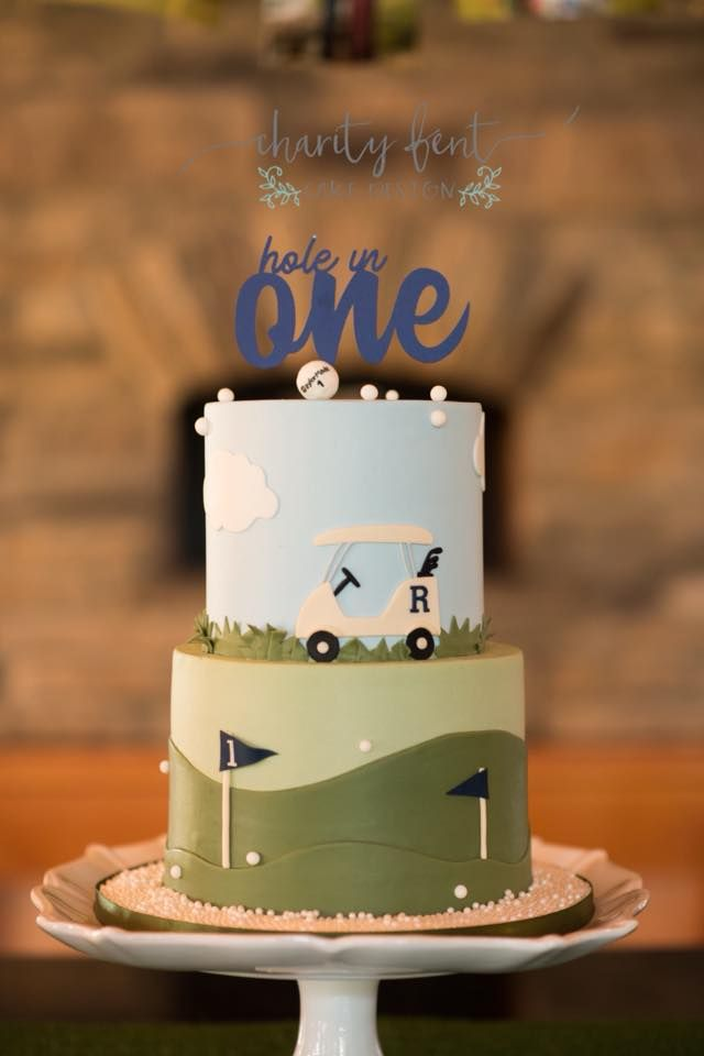 Hole In One Birthday Cake Baby 1st First Cakes Custom