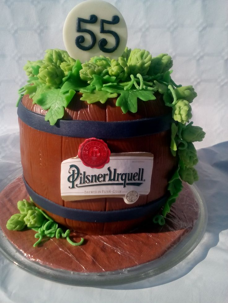 cake beer keg