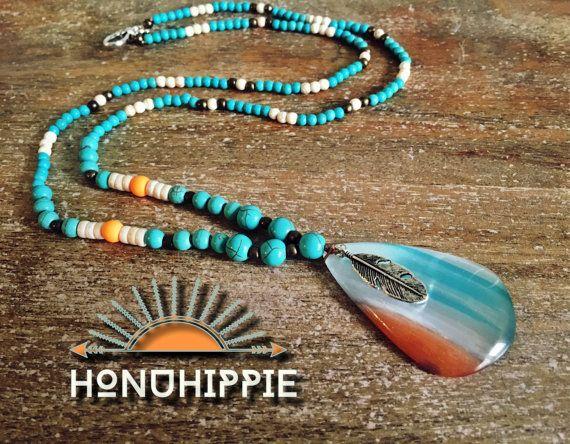 Boho Hippie necklace Native American Jewelry by HonuHippie