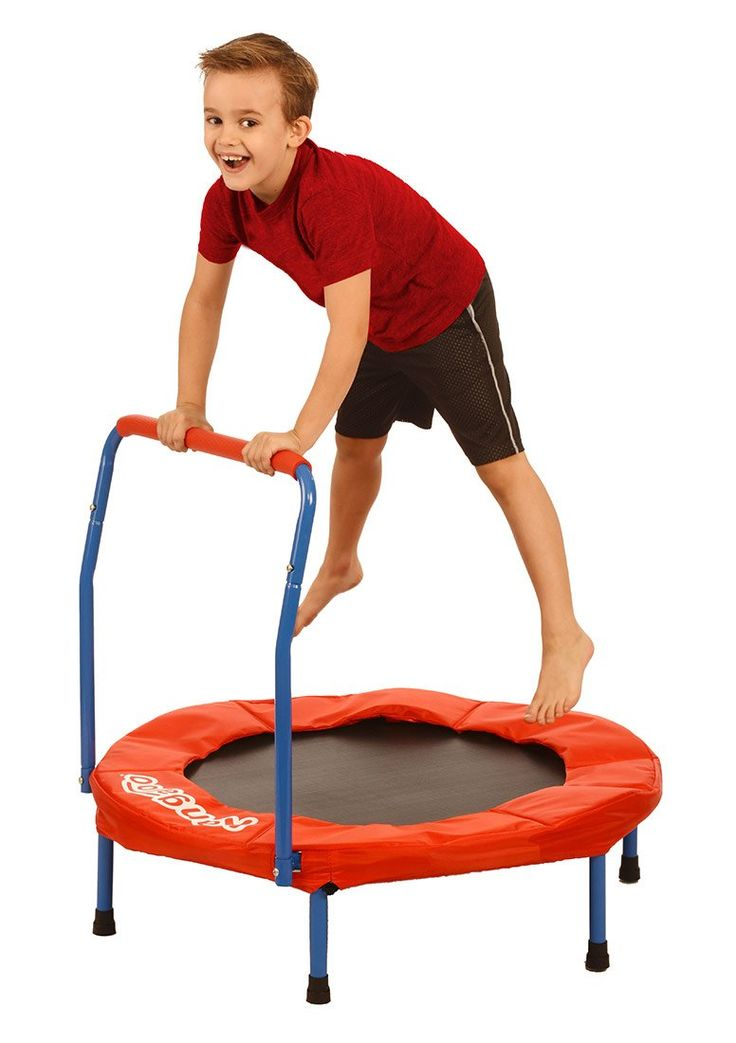 "Kangaroo's 36"" Kids Trampoline, Indoor Trampoline For Kids. 36"" Or 3 Foot Indoor Trampoline For Kids; Best In Toddler Toys. Kids Trampoline May Be Used Outdoors Under Adult Supervision. Mini Trampoline For Toddlers Only Under Adult Supervision For Indoor Or Outdoor Trampoline Use. Toddler Trampoline Passes All US Safety Tests For Kids Trampoline Use 3 And Up (However We Suggest 5 And Up). Indoor Trampoline Toddlers; Outdoor/ Indoor Trampoline For Kids."