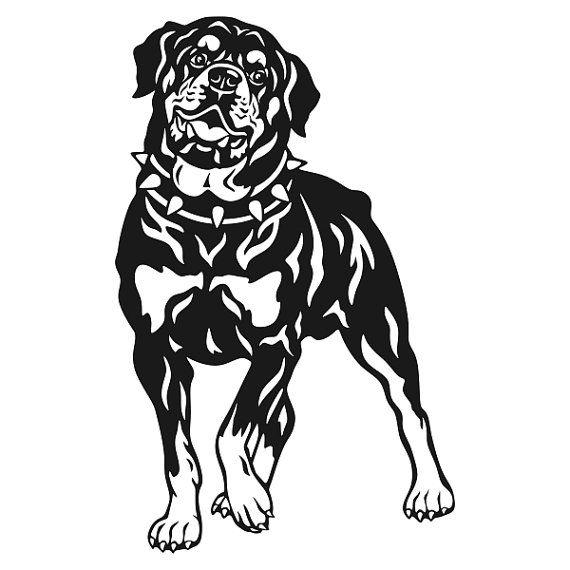 rottweiler dog cuttable design by cuttablesvg on etsy