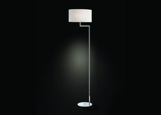 Lampada da terra in ottone cromato e paralume in tessuto   Floor lamp,  chromed brass with fabric lamp shade.    art.1300.03    #Luxury #Lamp #interiorDesign #Design #Light #Madeinitaly
