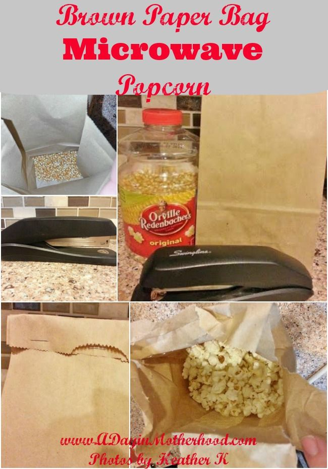 Brown Paper Bag Microwave Popcorn