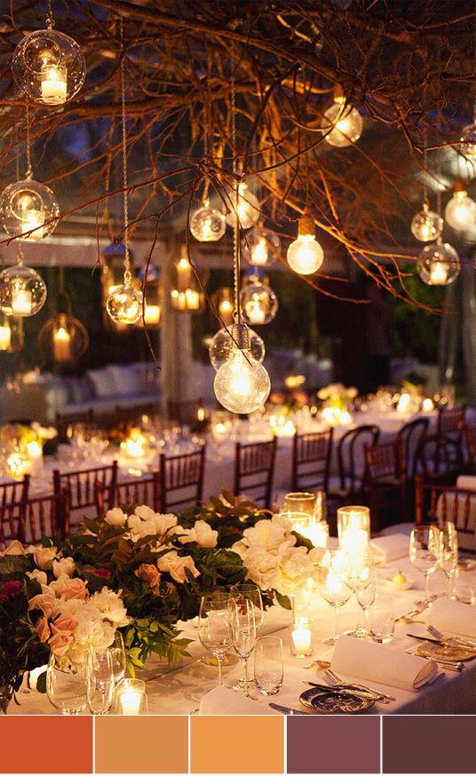 outdoor wedding reception :)