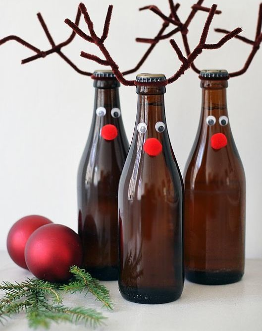 Decorate Beer Bottles For Christmas 54 Best Beer Holiday Decorations Images On Pinterest  Christmas