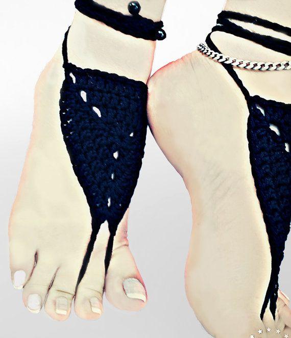 Crochet Barefoot Sandals Foot jewelry Wedding by SimArtShop
