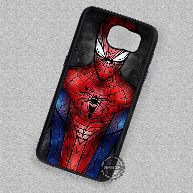 Spiderman Stained Glass Superhero  - Samsung Galaxy S6 S5 S4 Note 7 Cases & Covers