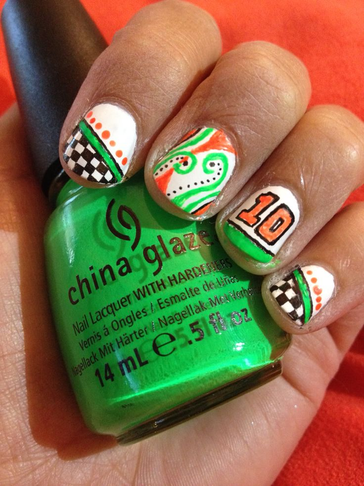 Danica Patrick nail art - NASCAR nails - Best 20+ Nascar Nails Ideas On Pinterest Racing Nails, Checkered