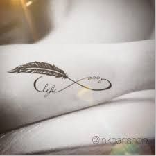 Resultado de imagen para believe infinity feather tattoo