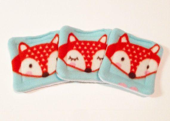 Water bottle pads - Fox Fleece - hedgehog - guinea pig fleece - guinea pig bed - guinea pig pee pad - lap pad