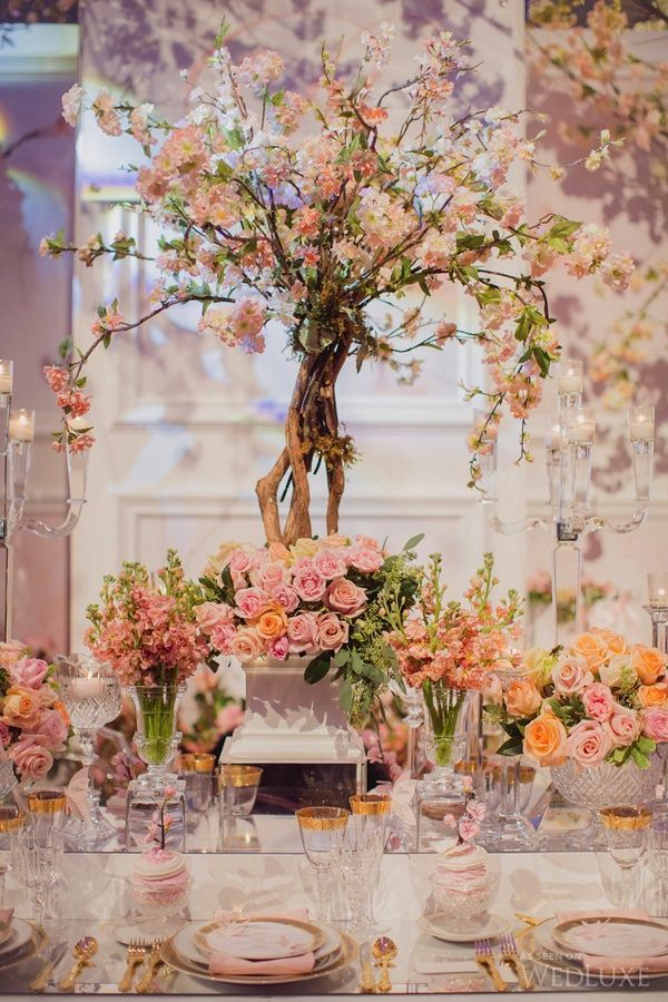 WedLuxe – Parisian Cherry Blossom Garden | Photography By: Elizabeth in Love