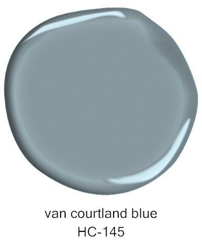 #BenjaminMoore Van Courtland Blue HC-145