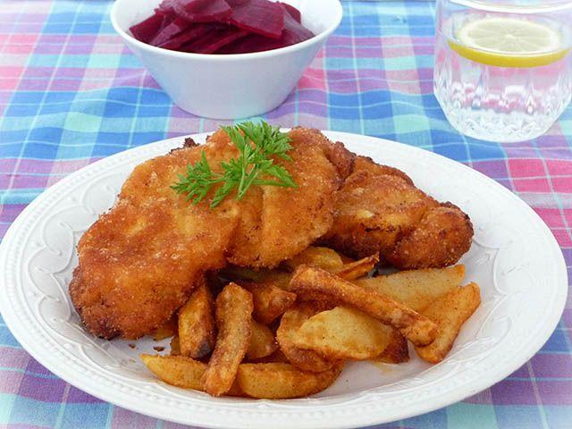 Rántott hús tejfölös-morzsás panírban - www.kiskegyed.hu