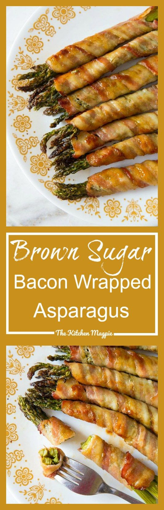 Embrace springtime asparagus by wrapping them in bacon and dousing them in this brown sugar garlic butter sauce! Bacon wrapped asparagus for the win!