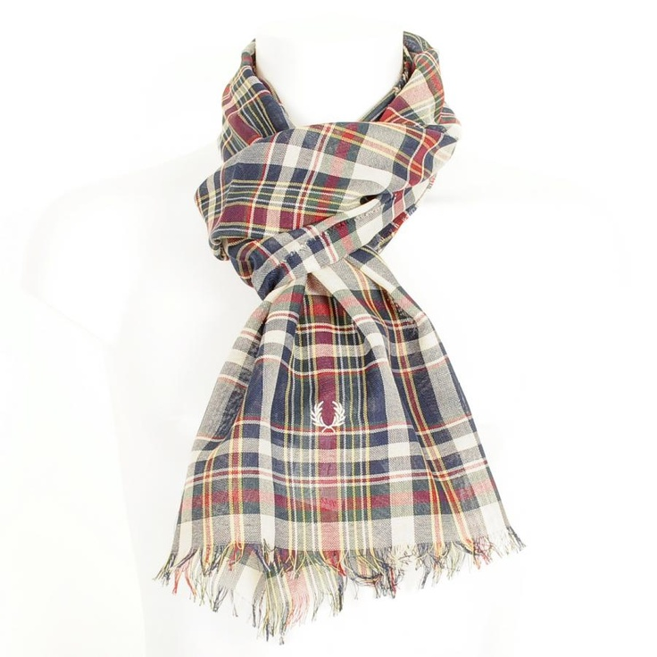 Fred Perry Accessories > Fred Perry Madras Check Scarf Milk > Fred Perry…