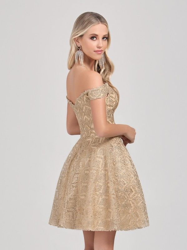 Short Gold Ball Gowns