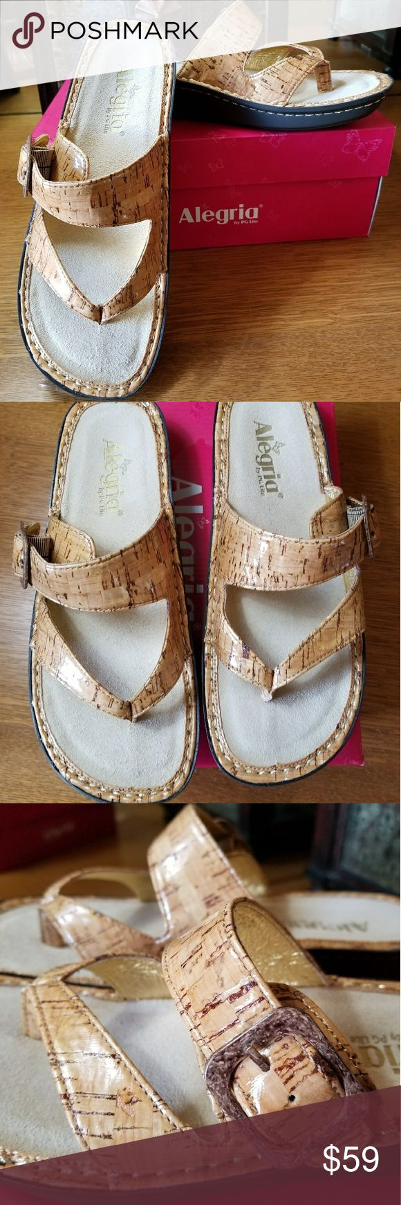ALEGRIA Sandal NWOT Alegria Patent Cork Sandle Alegria Shoes Sandals