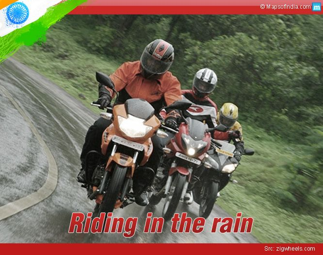 Love to ride your bike in the rain? Here are some quick tip to ride safe