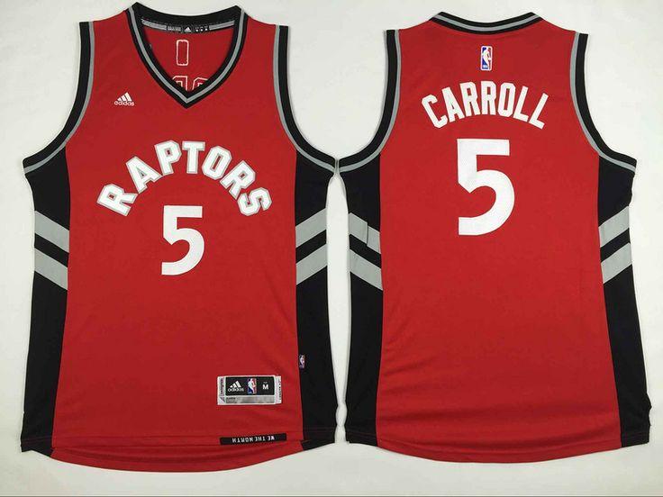 7d63dcb05 ... Toronto Raptors 5 Carroll Red Men 2017 New Logo NBA Adidas Jersey NBA  jersey Pinterest NBA ...