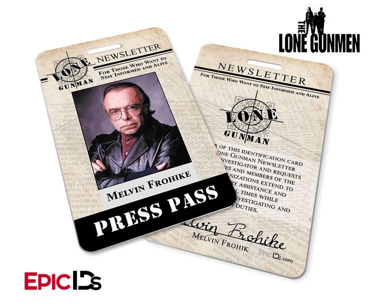 The X-Files / The Lone Gunmen Inspired Melvin Frohike TLG Newsletter Press Pass