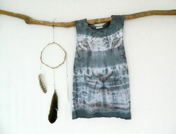 WANDERER . tie dye unisex top . up-cycled altered by bohemianbabes